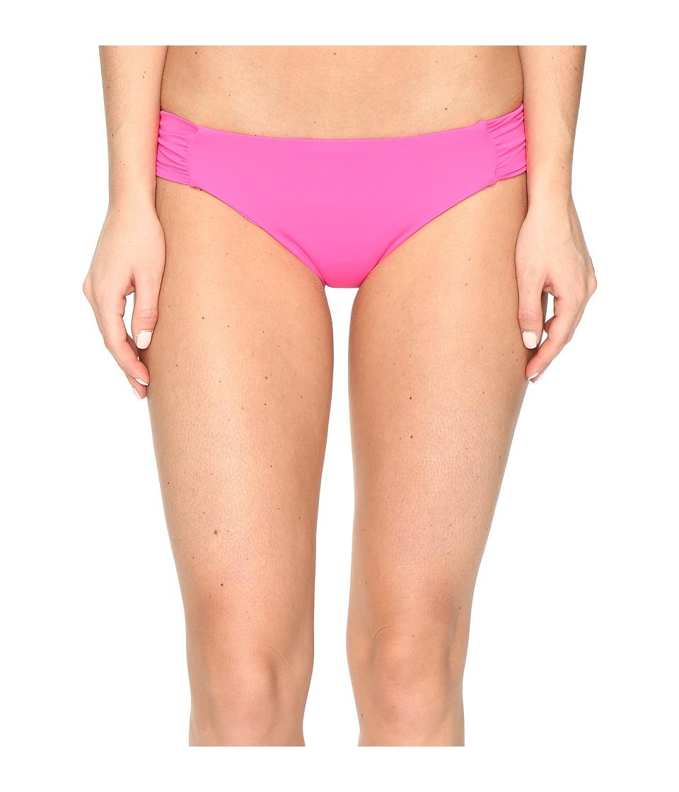 Trina Turk - Gypsy Solids Shirred Hipster Bottoms (Pink) Women's Swimwear