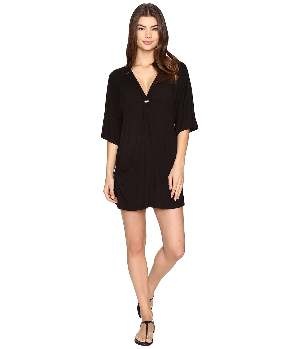 Trina Turk - Santiago Solid Tunic Cover-Up (Black) Women's Swimwear