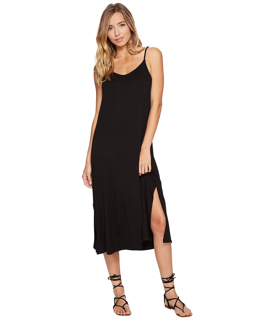 RVCA - Bottleneck Midi Dress (Black) Women's Dress