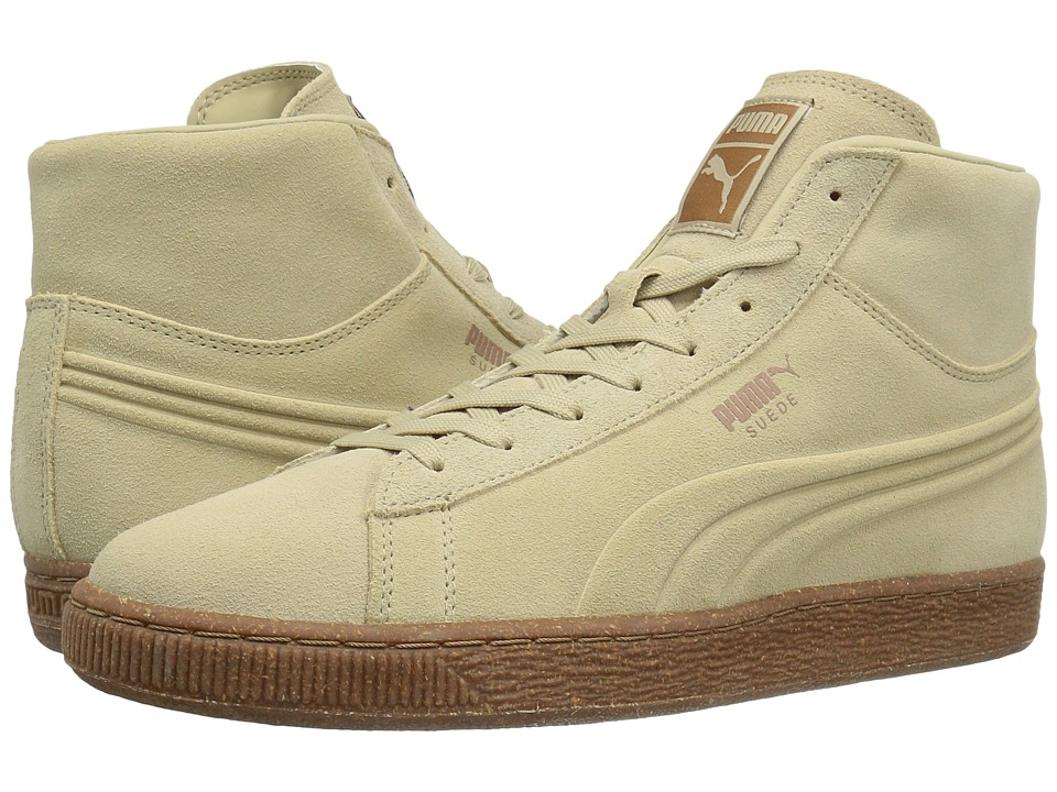 PUMA - Suede Mid Emboss Mixed Rubber (Pale Khaki Chipmunk) Men's Shoes