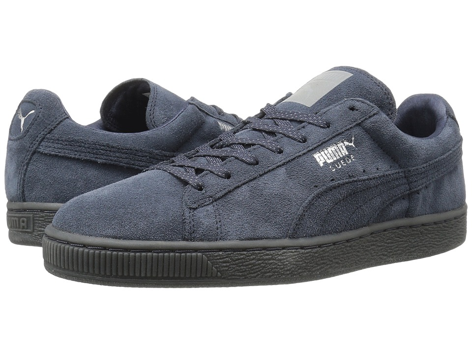 PUMA - Suede Classic Mono Ref Iced (New Navy/Puma Silver) Women's Shoes