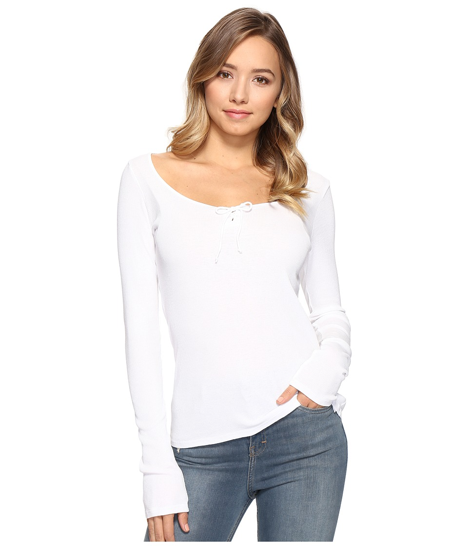 LAmade - Kelly Top (White) Women's Long Sleeve Pullover