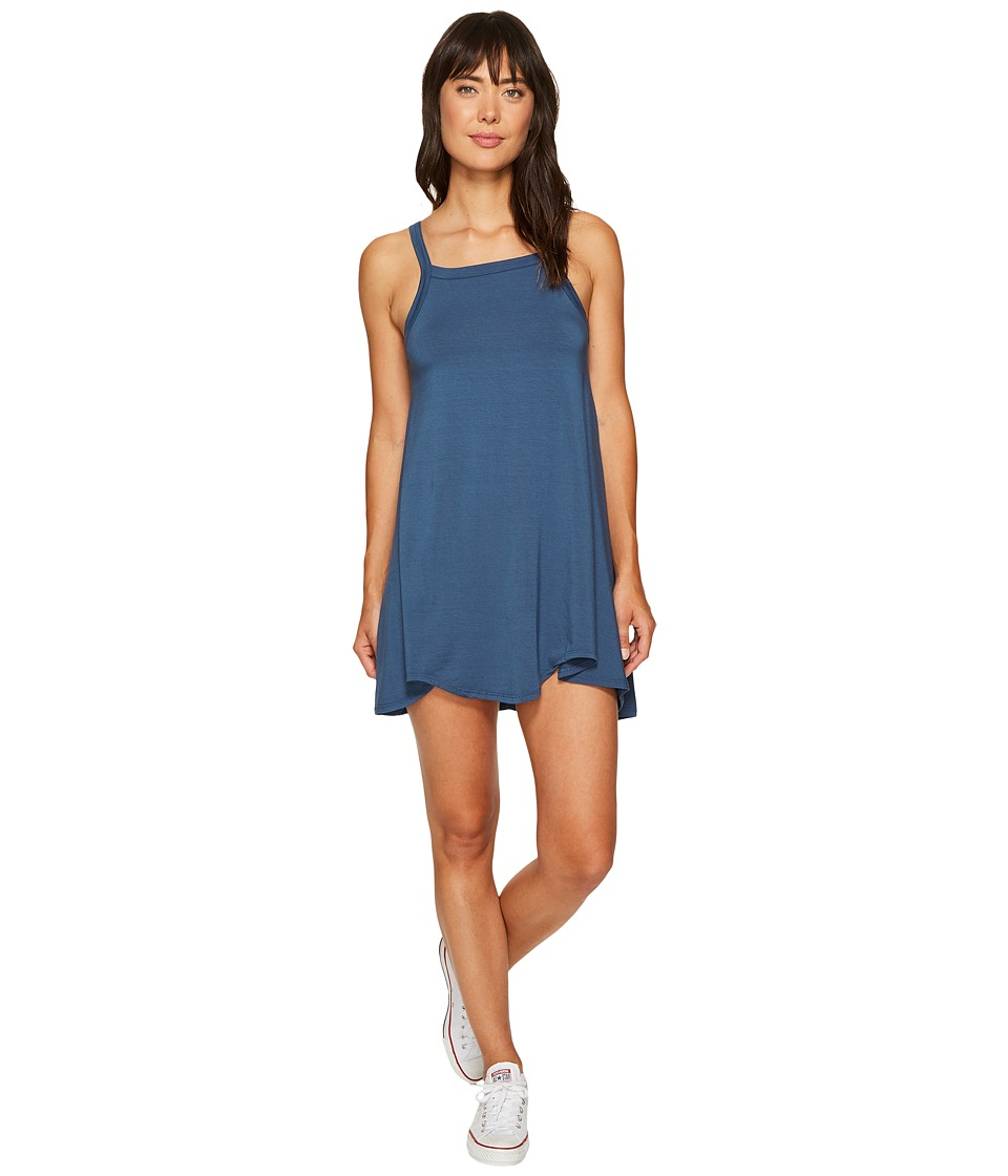 RVCA Thievery Scalloped Swing Dress (Dark Denim) Women