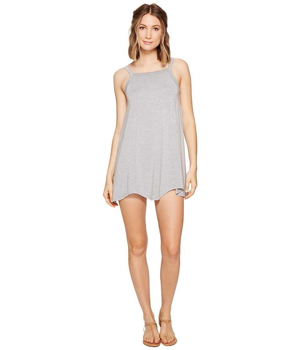 RVCA Thievery Scalloped Swing Dress (Heathey Grey) Women