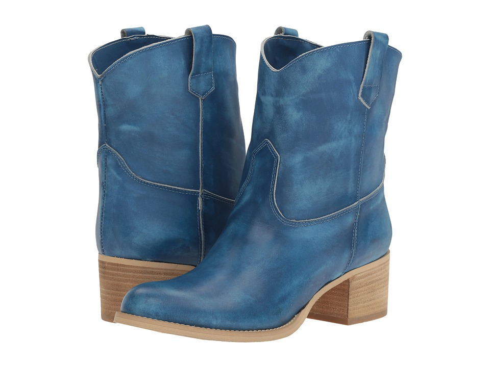 Massimo Matteo - Low Cowboy Boot (Blue) Women's Boots
