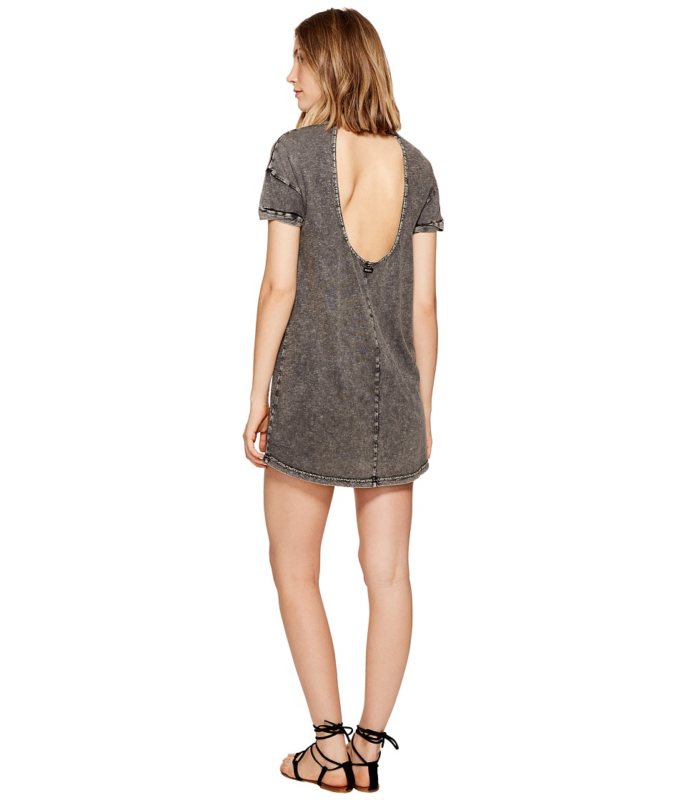 RVCA Topped Off T-Shirt Dress (Black) Women