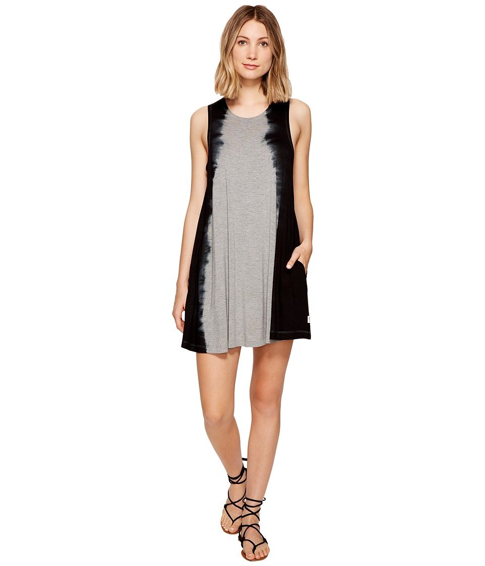 RVCA Sucker Puncher Tie Dye Swing Dress (Heather Grey) Women
