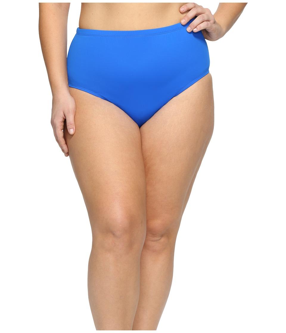 LAUREN Ralph Lauren - Plus Size Beach Club Hipster Bottom (Blue) Women's Swimwear
