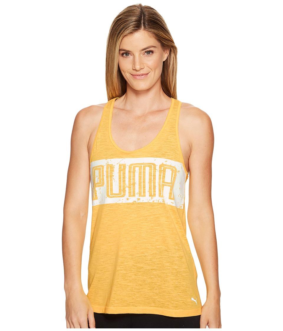 PUMA - Essential Dri-Release Tank Top (Ultra Yellow Heather) Women's Sleeveless