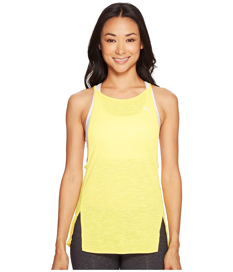 PUMA Dancer Drapey Tank (Ultra Yellow Heather) Women