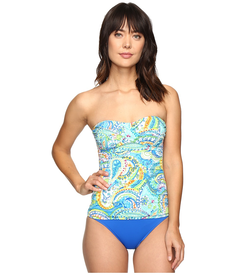 LAUREN Ralph Lauren - Carnival Paisley Twist Tubini (Blue) Women's Swimwear