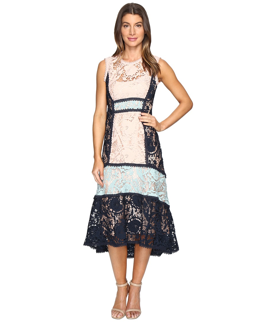 Nanette Lepore - Baroque Lace Dress (Petal Navy) Women's Dress