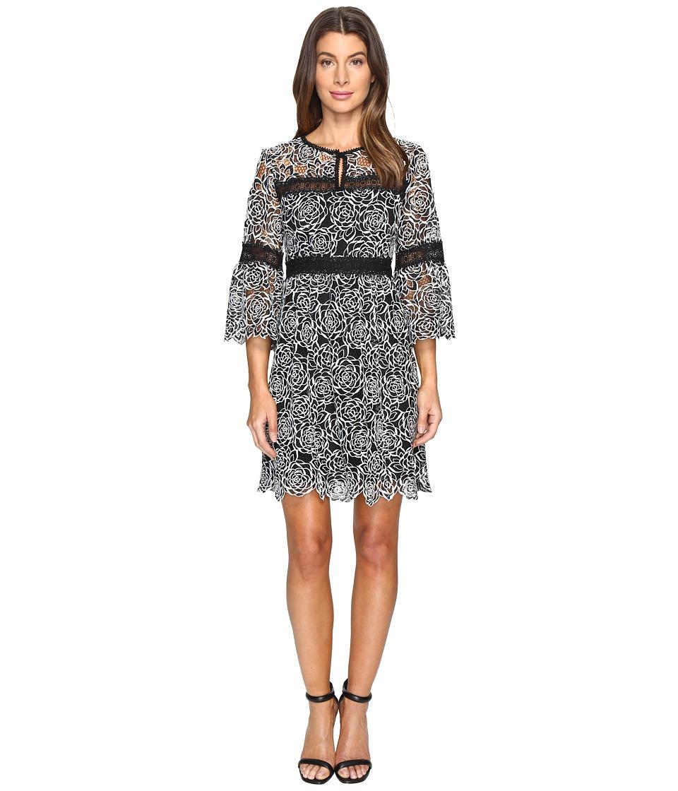 Nanette Lepore Chiaroscura Dress (Cream/Black) Women