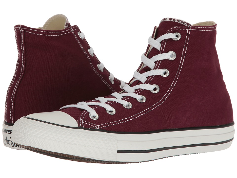 Converse - Chuck Taylor(r) All Star(r) Seasonal Color Hi (Burgundy) Lace up casual Shoes