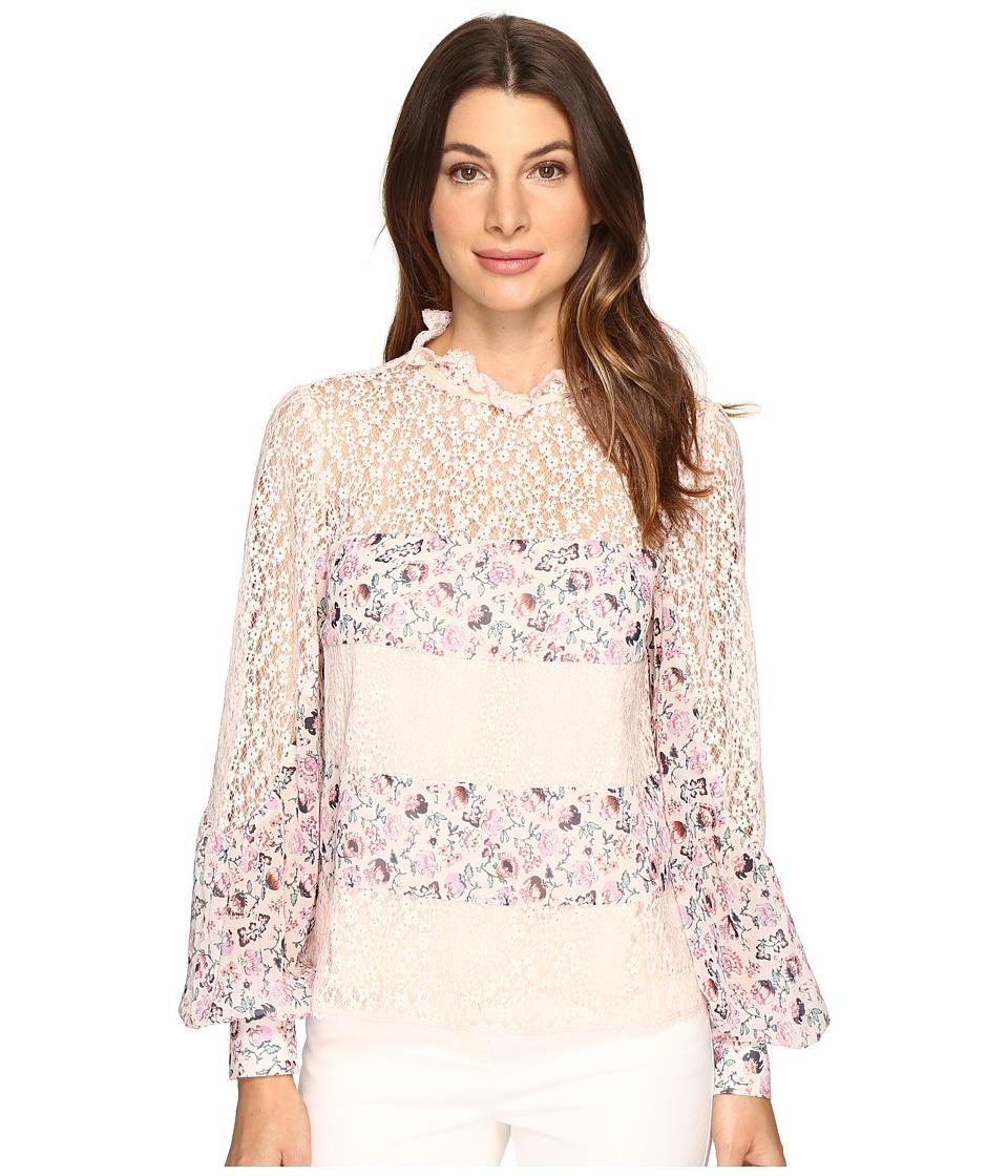 Nanette Lepore - Fiore Blouse (Petal) Women's Short Sleeve Pullover