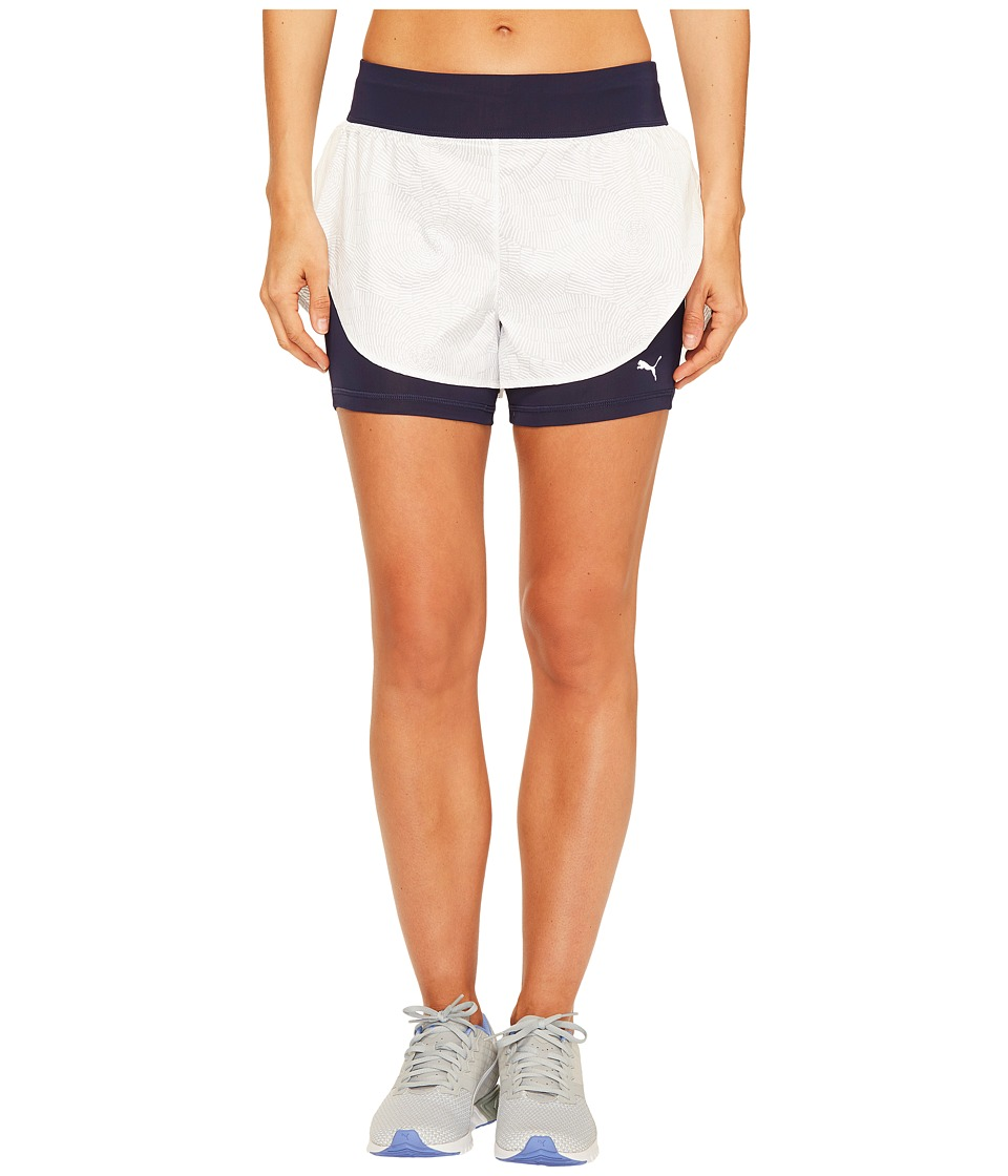 PUMA - Culture Surf 2-in-1 Shorts (Puma White/White Swirl Print) Women's Shorts