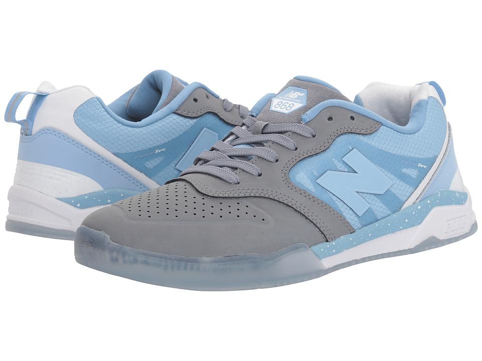 New Balance Numeric - NM868 (Gunmetal/Heritage Blue) Men's Skate Shoes