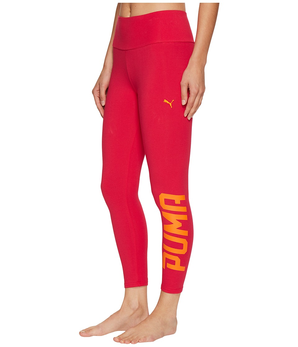 PUMA - Style Swagger 3/4 Leggings (Bright Rose) Women's Workout