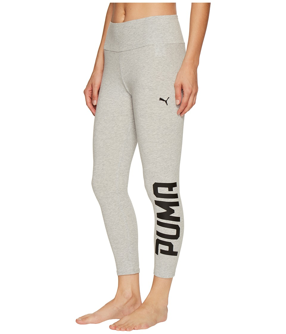 PUMA - Style Swagger 3/4 Leggings (Light Gray Heather) Women's Workout