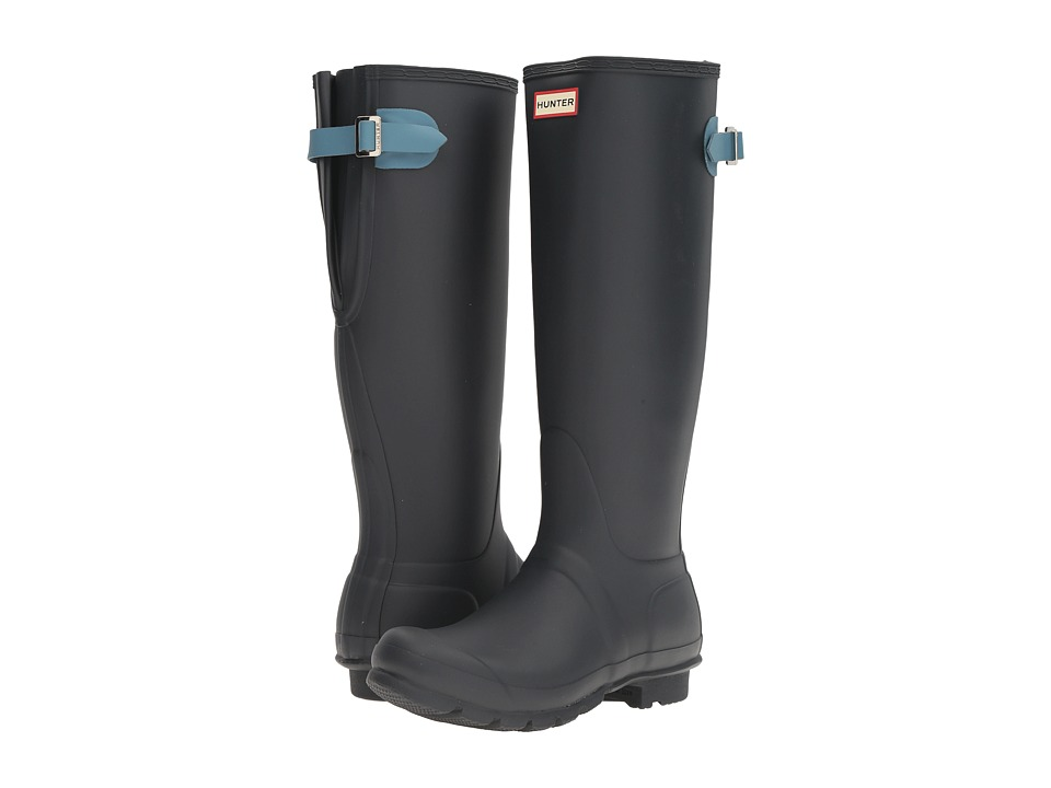 Hunter - Original Back Adjustable (Navy/Pale Air Force) Women's Rain Boots