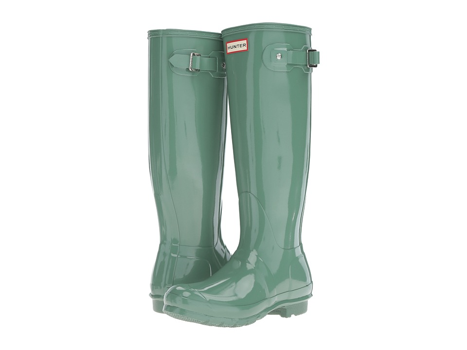 Hunter - Original Tall Gloss (Succulent Green) Women's Shoes