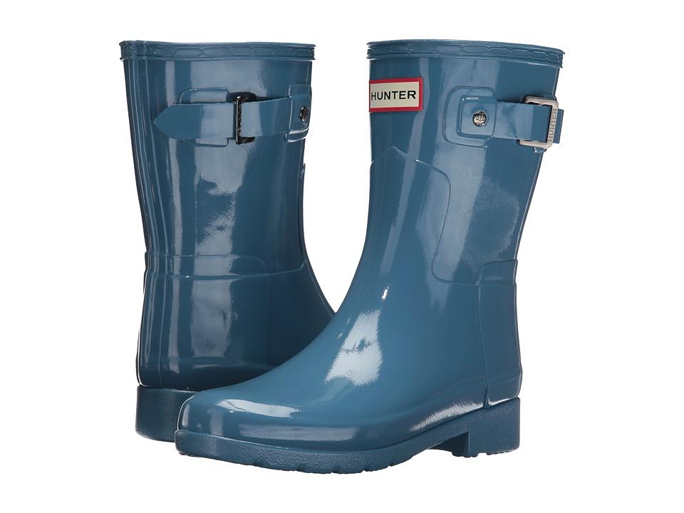 Hunter - Original Refined Short Gloss (Pale Air Force) Women's Rain Boots