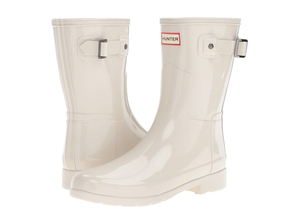 Hunter - Original Refined Short Gloss (Parchment) Women's Rain Boots