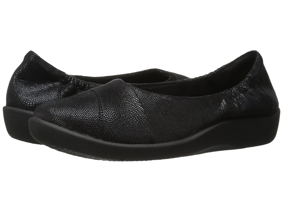 Clarks - Sillian Intro (Black Lizard) Women's Shoes