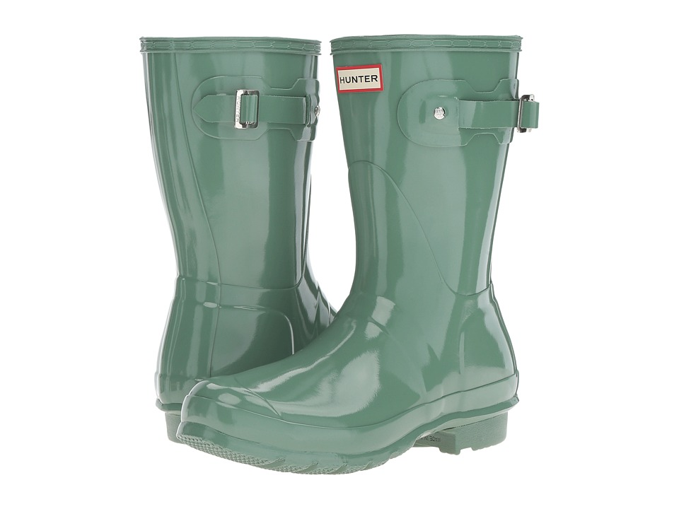 Hunter - Original Short Gloss (Succulent Green) Women's Rain Boots