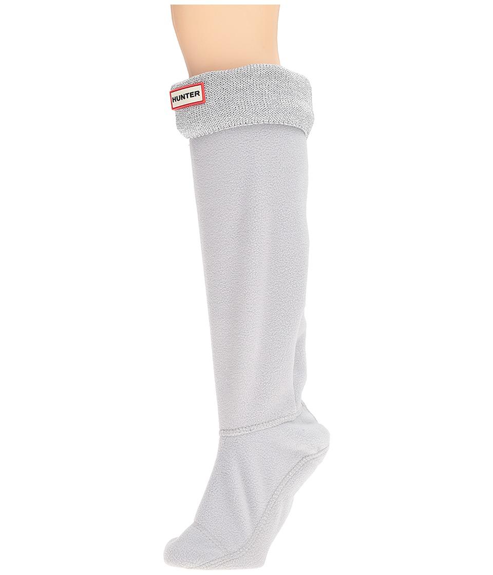 Hunter - Original Tall BS Glitter Cuff Lurex (Dove Grey (Prior Season)) Women's Crew Cut Socks Shoes