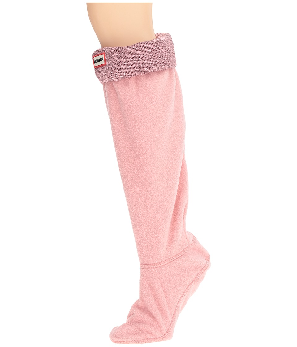 Hunter - Original Tall BS Glitter Cuff Lurex (Pink Sand) Women's Crew Cut Socks Shoes