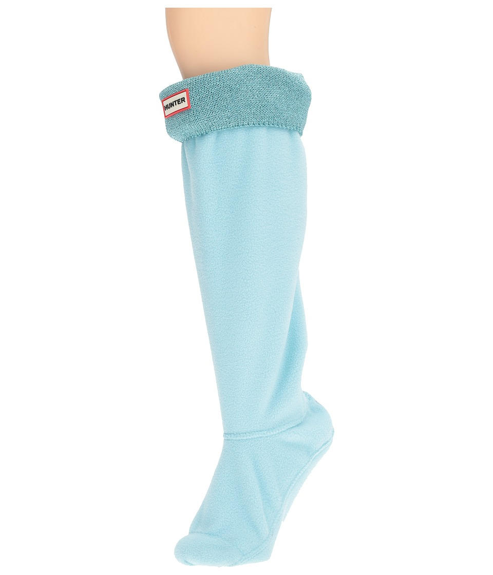 Hunter - Original Tall BS Glitter Cuff Lurex (Pale Mint) Women's Crew Cut Socks Shoes