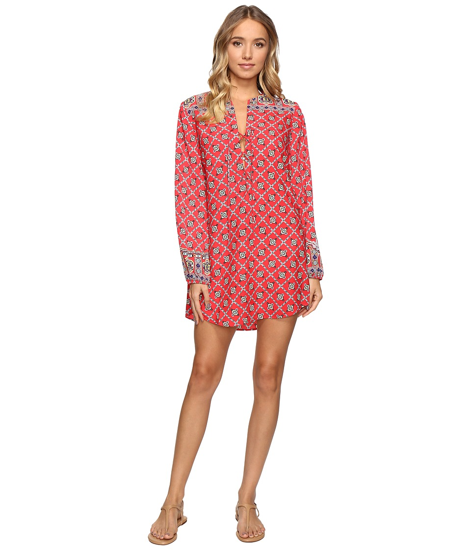 Nanette Lepore Pretty Tough Tunic Cover-Up (Ruby) Women