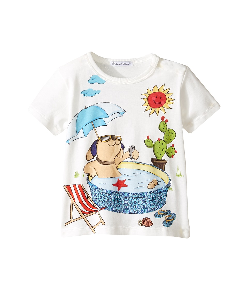 Dolce & Gabbana Kids - Mimmo Swimming Pool T-Shirt (Infant) (White) Boy's T Shirt