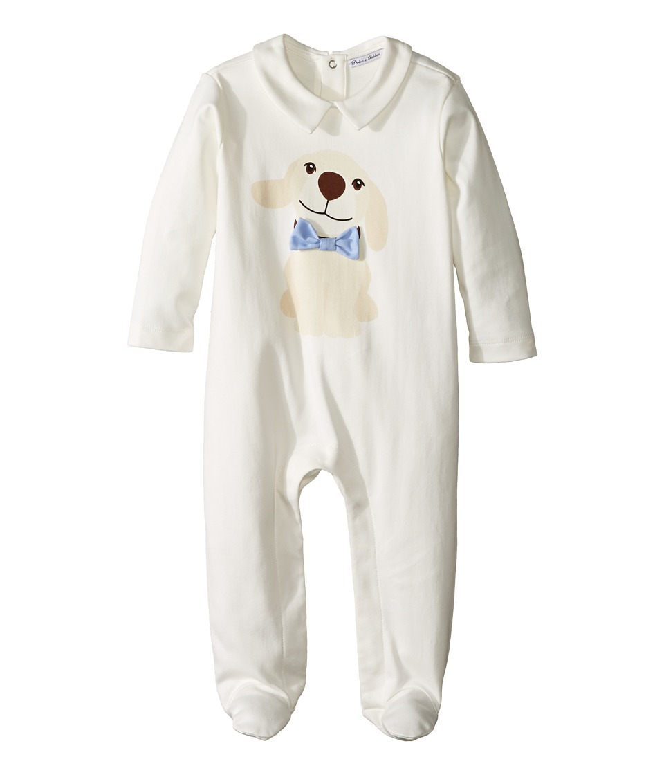 Dolce & Gabbana Kids - Mimmo Sleeper (Infant) (White) Boy's Jumpsuit & Rompers One Piece