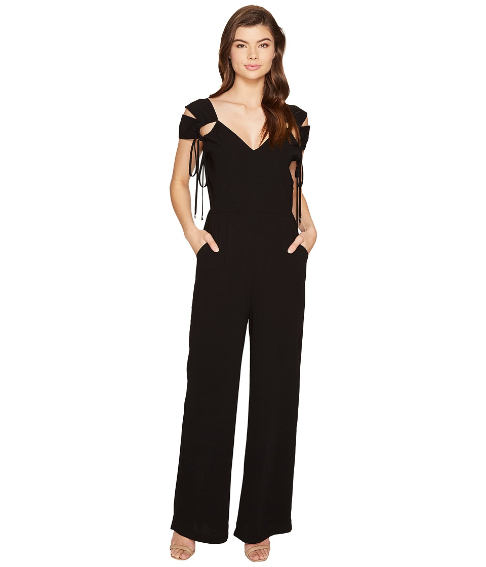 Adelyn Rae - Ingrid Woven Jumpsuit (Black) Women's Jumpsuit & Rompers One Piece