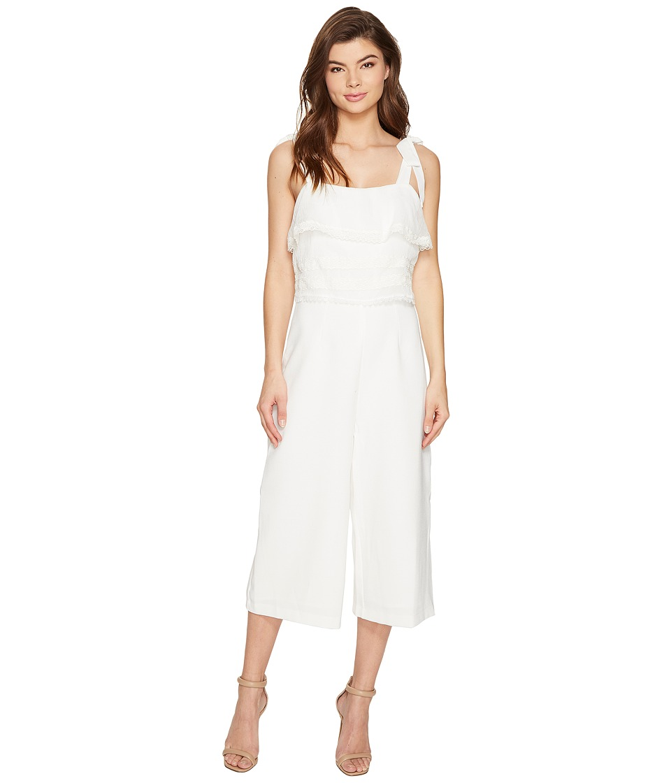 Adelyn Rae - Joanne Woven Culotte Jumpsuit (White) Women's Jumpsuit & Rompers One Piece