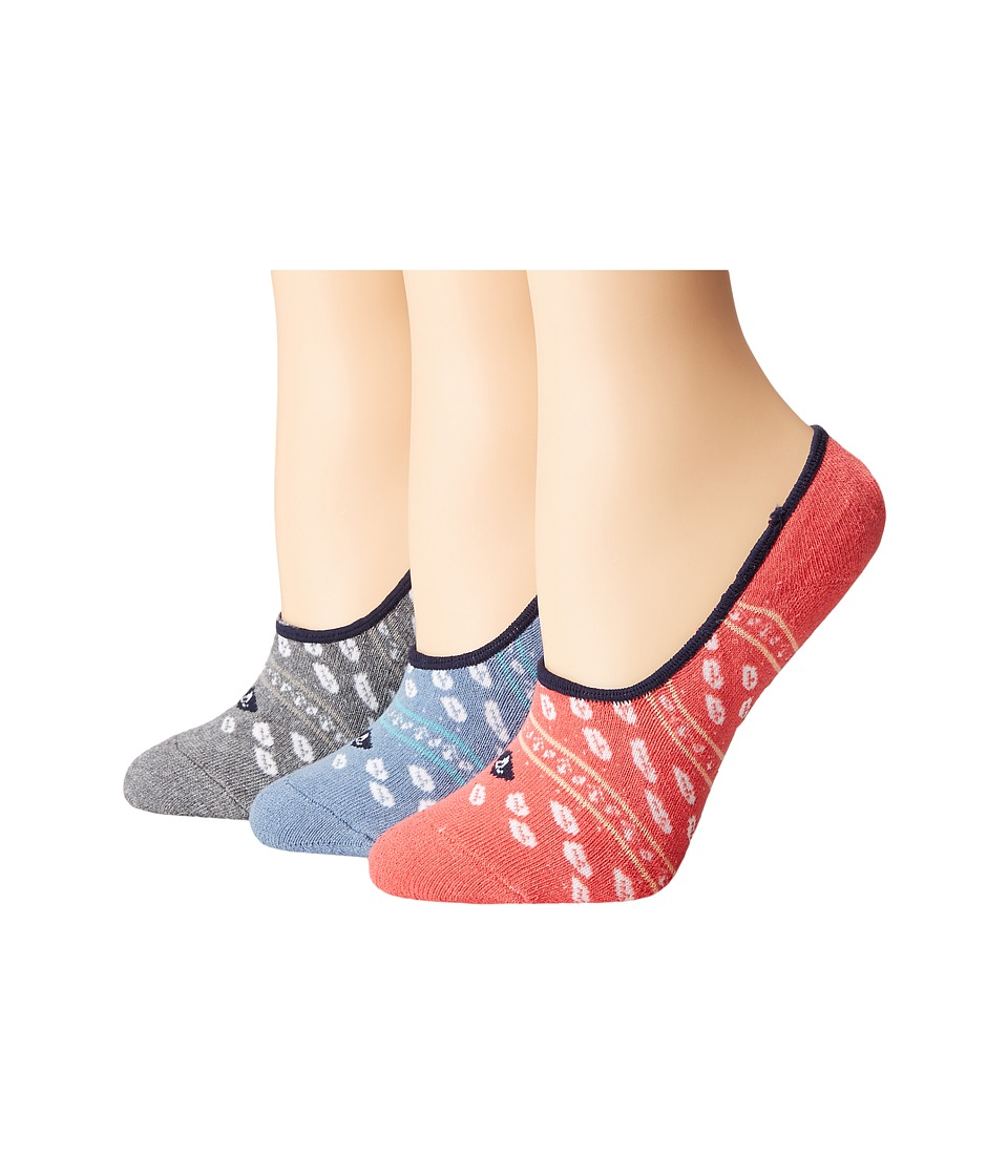 Sperry - Cushion Canoe Liners (Infinity Blue Assorted) Women's No Show Socks Shoes