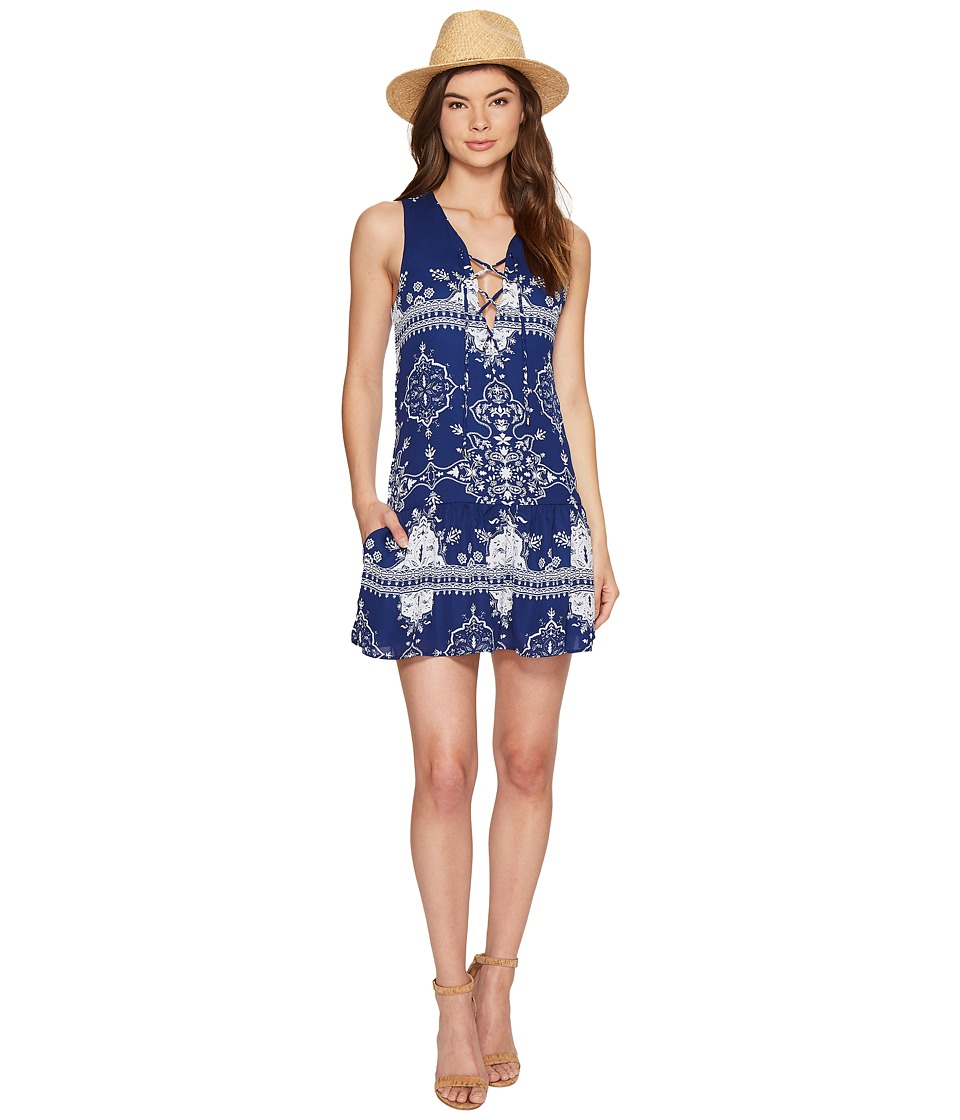 Lovers + Friends - Temple Dress (Blue Temple Scarf) Women's Dress