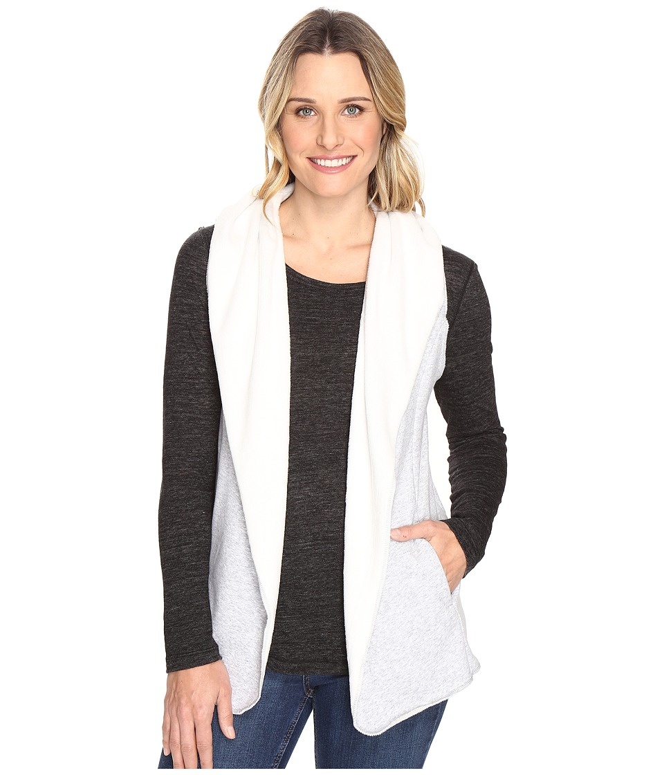 Dylan by True Grit - Cozy Heather Fleece Vest with Hood and Side Pockets (Heather/White) Women's Vest