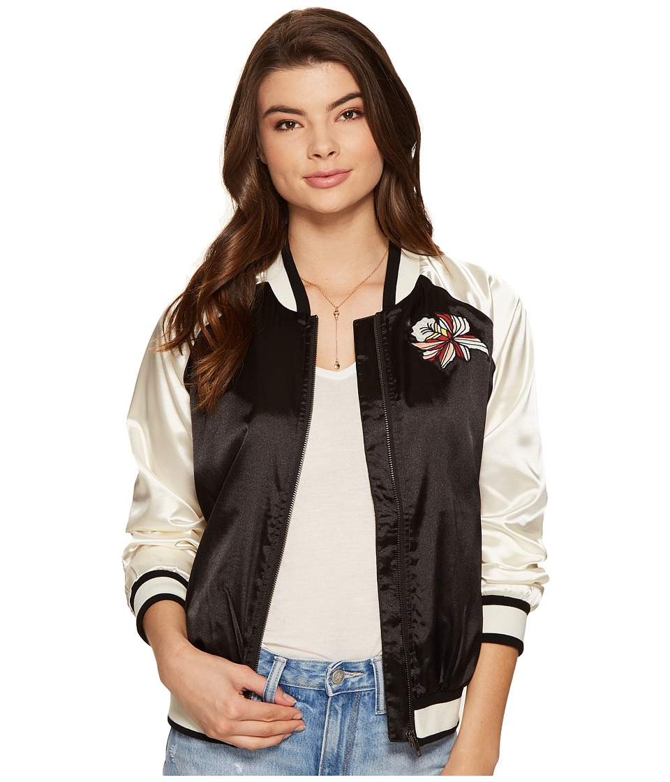 Lovers + Friends - Los Angeles Bomber (Black/White) Women's Coat