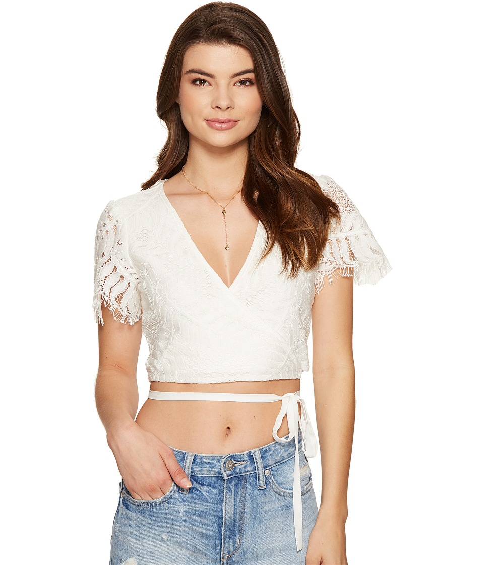 Lovers + Friends - It's A Wrap Top (Ivory) Women's Clothing