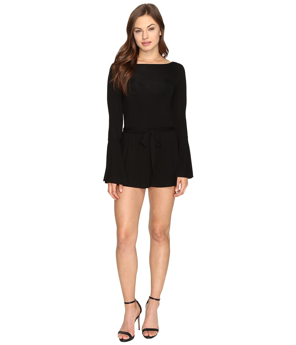Clayton - Georgina Playsuit (Black) Women's Jumpsuit & Rompers One Piece