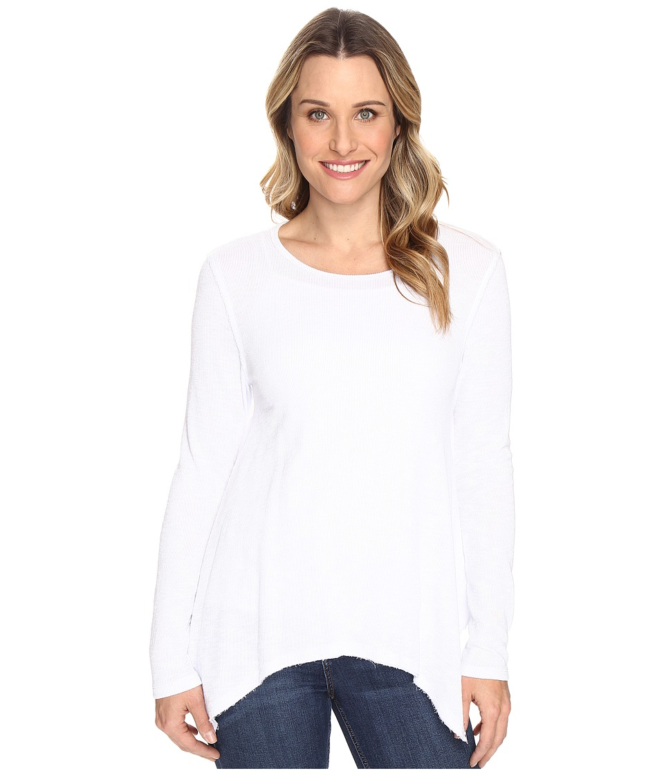 Dylan by True Grit - Weston Slub Rib Thermal Loose Layer Long Sleeve Top (Winter White) Women's Clothing