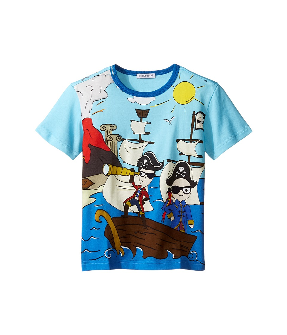 Dolce & Gabbana Kids - Mare Sicily Pirate T-Shirt (Toddler/Little Kids) (Blue) Boy's T Shirt