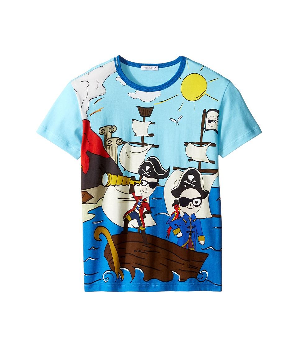 Dolce & Gabbana Kids - Mare Sicily Pirate T-Shirt (Big Kids) (Blue) Boy's T Shirt