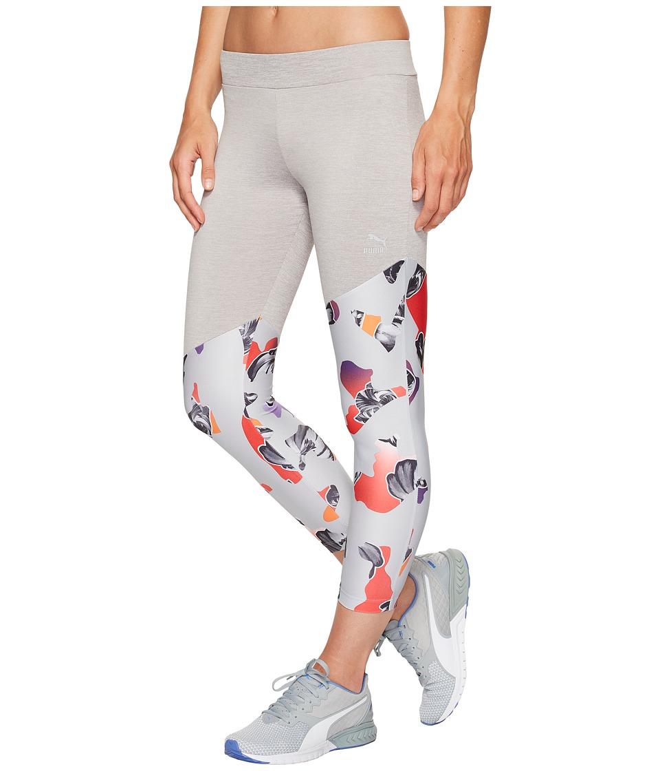 PUMA Camou Print 7/8 Leggings (Light Gray Heather) Women