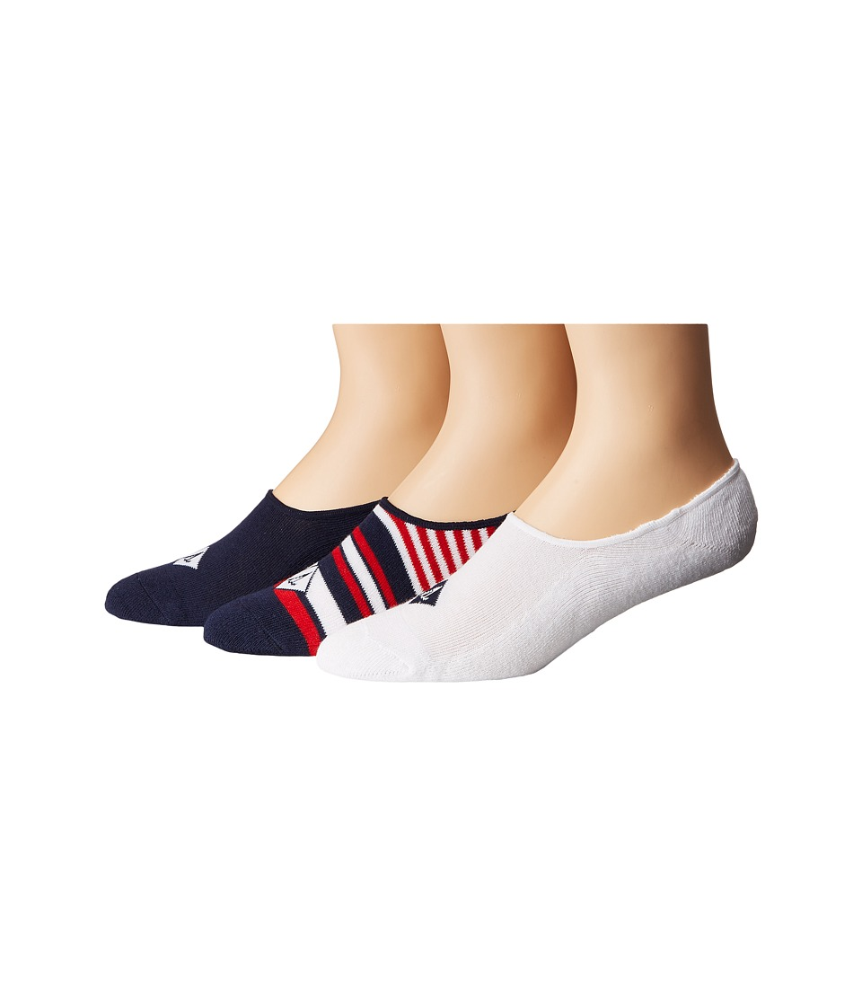 Sperry - Cushioned Canoe Liners 3-Pack (Navy Assorted) Men's No Show Socks Shoes