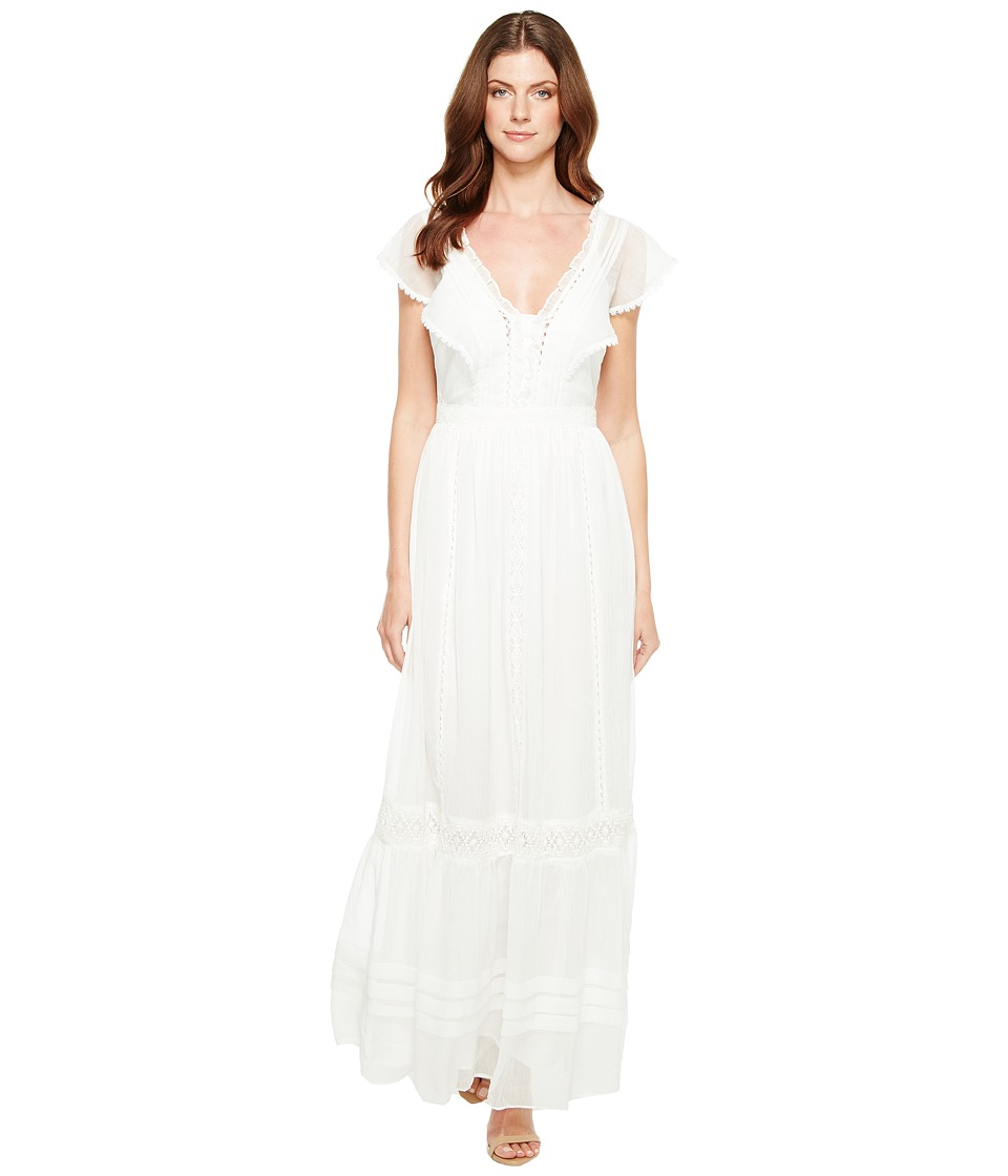 Adelyn Rae - Joanne Woven Printed Maxi Dress (White) Women's Dress