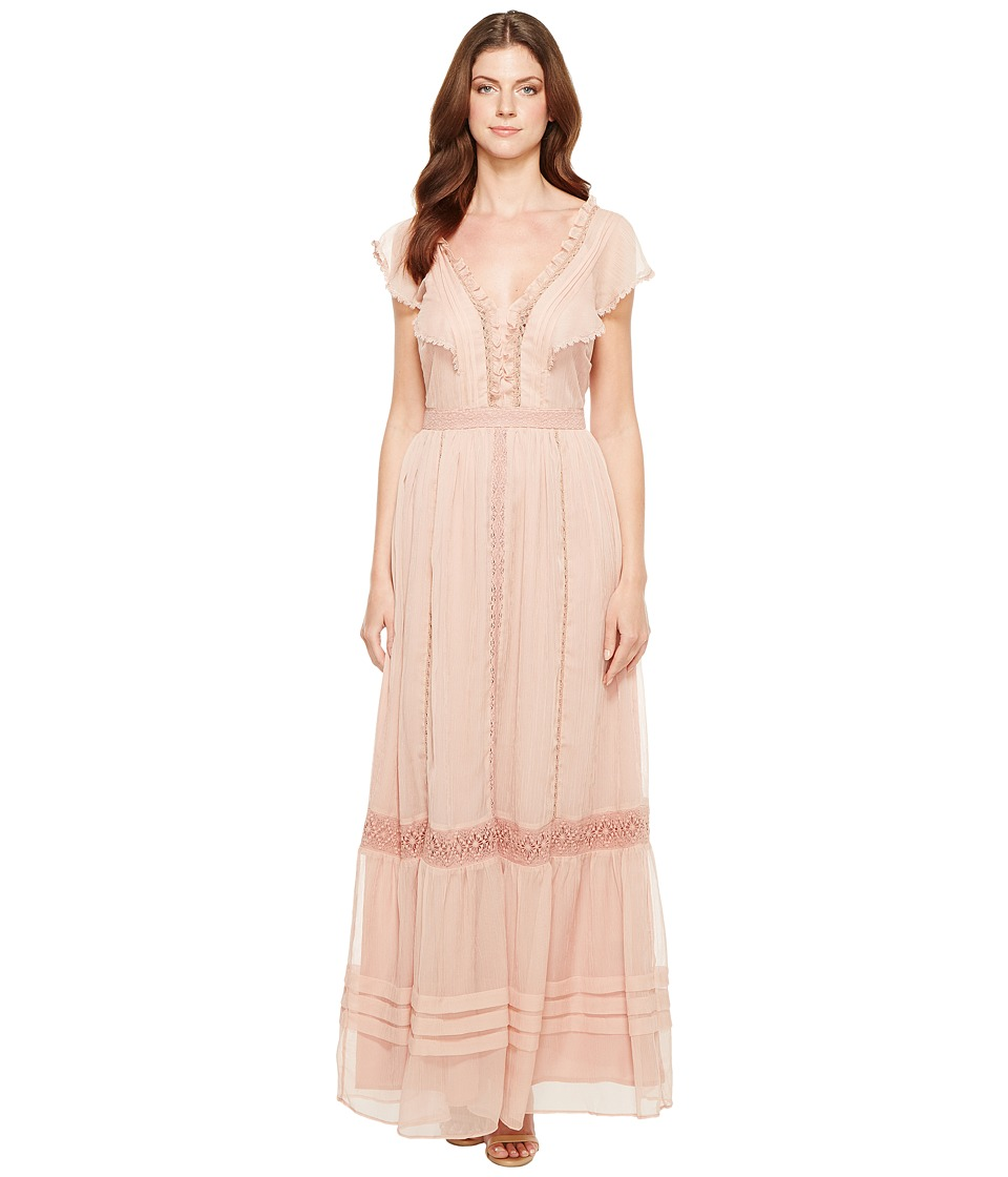 Adelyn Rae - Joanne Woven Printed Maxi Dress (Nude Pink) Women's Dress